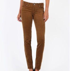 FAB Kut Cord 'Diana' Dark Brown Skinny Jeans
